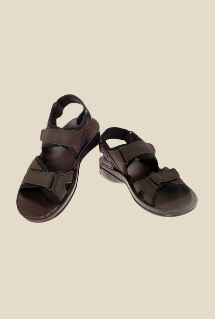 Khadim's Brown Floater Sandals