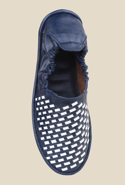Shoetopia Navy & White Espadrilles