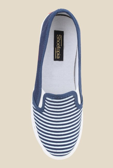 Shoetopia Navy & White Plimsolls