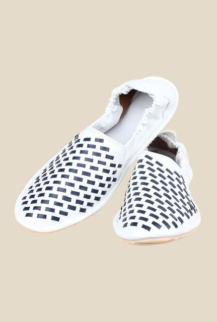 Shoetopia White & Navy Espadrilles