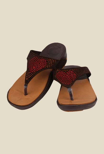 Shoetopia Brown Thong Sandals