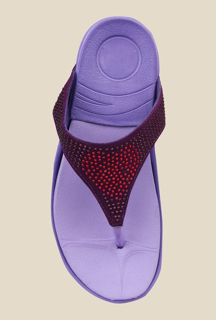 Shoetopia Purple Thong Sandals