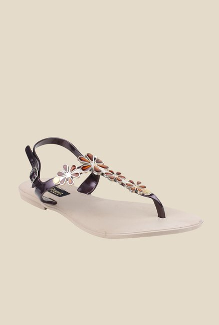 Shoetopia Copper Back Strap Sandals