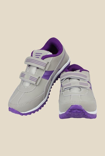 Shoetopia Grey & Purple Running Shoes