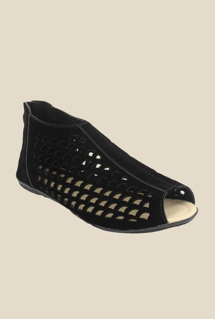 Shoetopia Black Peeptoe Shoes