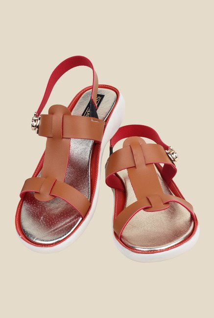 Shoetopia Tan Sling Back Wedges