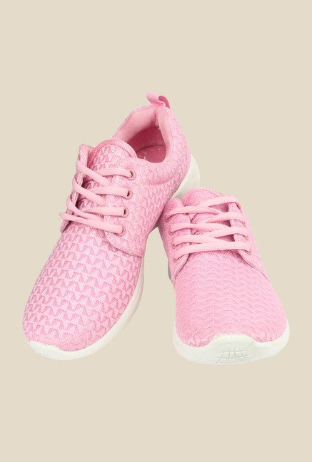 Shoetopia Pink & White Sneakers