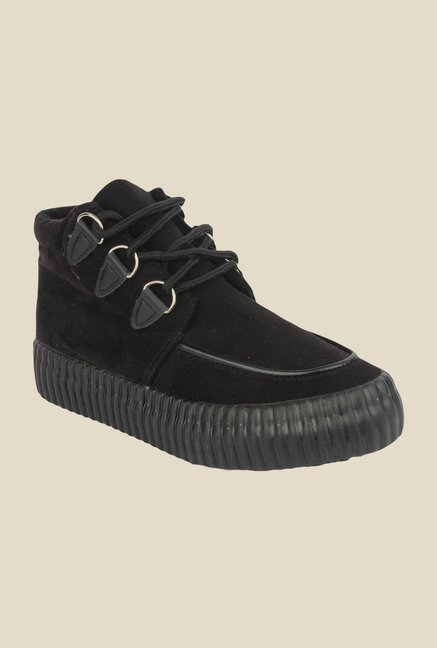 Shoetopia Black Casual Boots