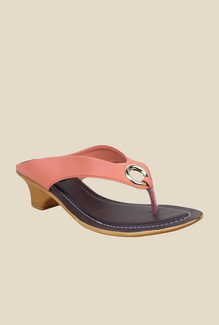 Shoetopia Peach Thong Sandals