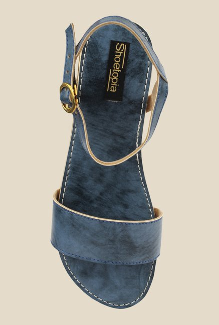 Shoetopia Navy Ankle Strap Sandals