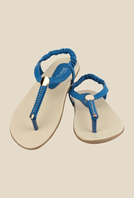 Shoetopia Blue Sling Back Sandals