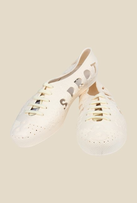 Shoetopia Peach Casual Shoes