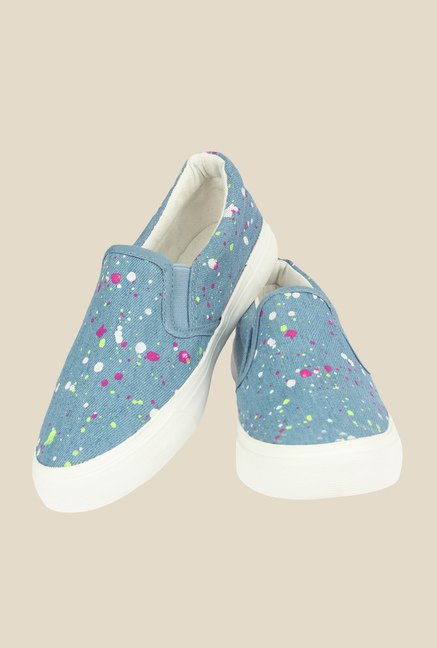 Shoetopia Sky Blue & White Plimsolls