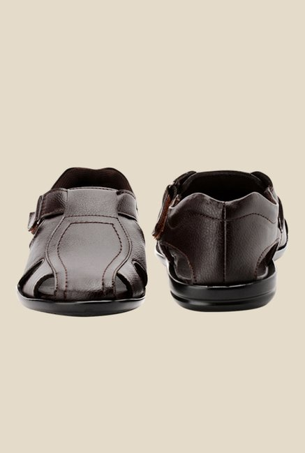 Bruno Manetti Brown Fisherman Sandals