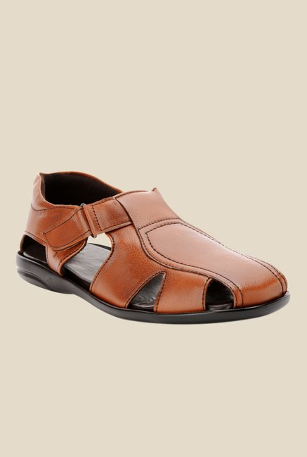 Bruno Manetti Tan Fisherman Sandals