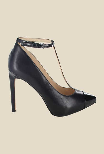 Nine West Black Ankle Strap Pumps