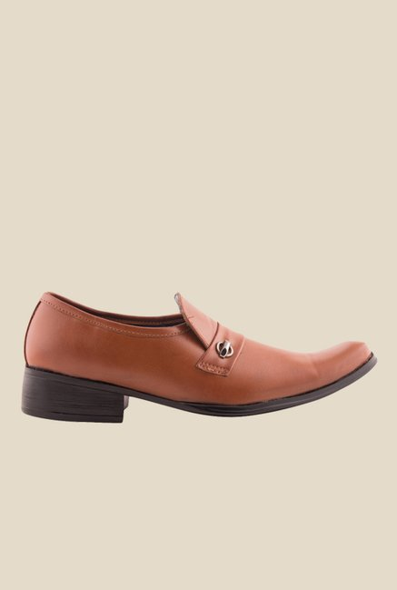 Bruno Manetti Dark Tan Formal Slip-Ons