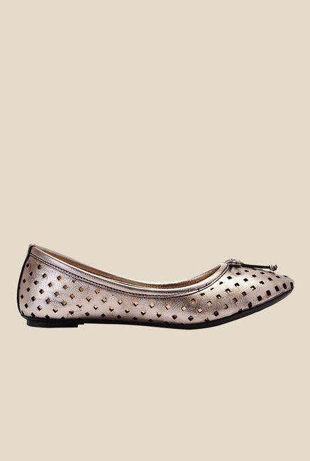 Bruno Manetti Gun Metal Flat Ballets