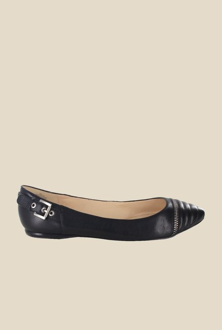 Nine West Black Flat Ballets
