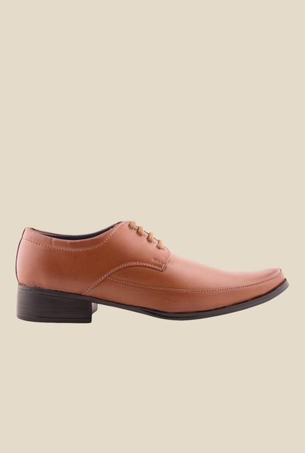 Bruno Manetti Dark Tan Derby Shoes
