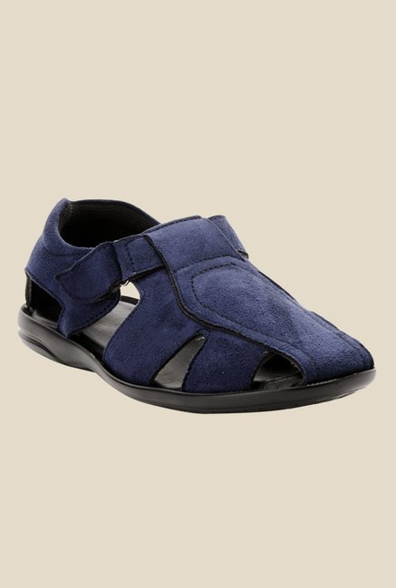 Bruno Manetti Navy Fisherman Sandals