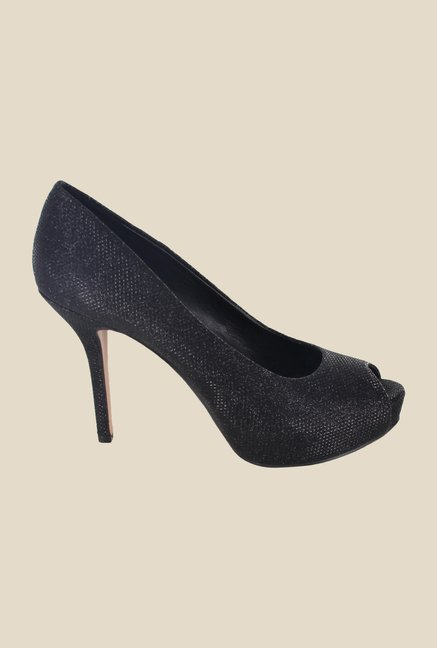 Nine West Black Peeptoe Stilettos