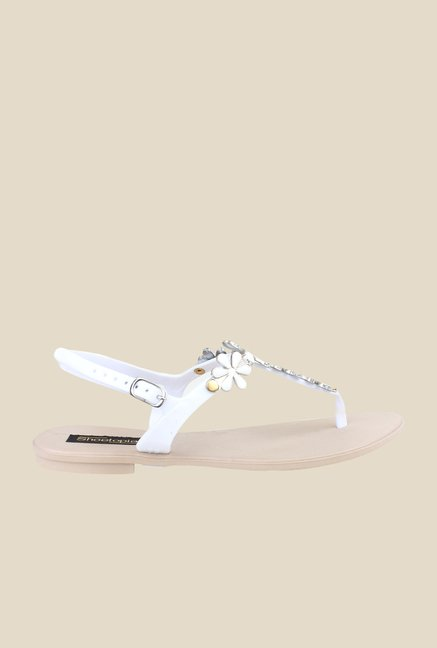 Shoetopia White Back Strap Sandals