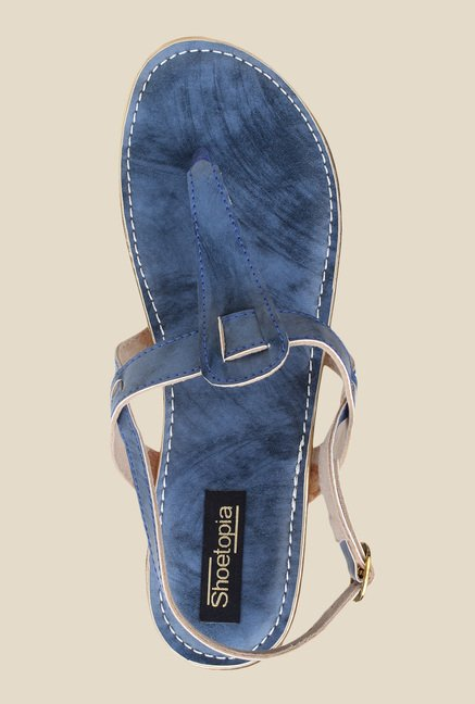 Shoetopia Navy Back Strap Sandals