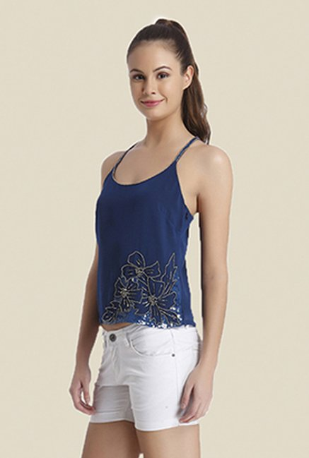 Ether Blue Cora Racer Back Cami Top