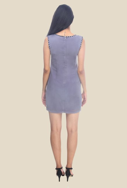 Ether Violet Venus Hand Embroidered Designer Shift Dress
