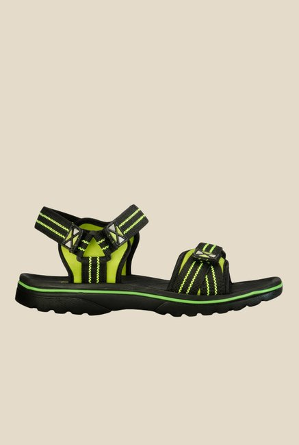 Yepme Black & Green Floater Sandals