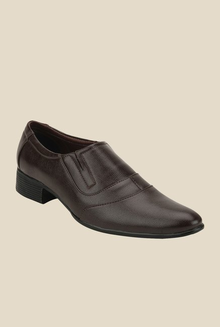Yepme Brown Formal Slip-Ons