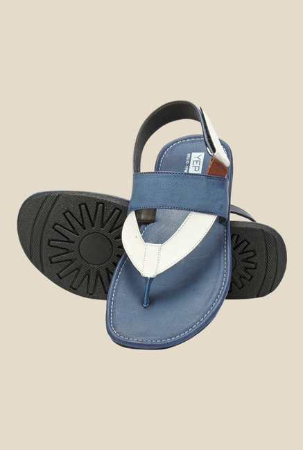 Yepme Navy & Beige Back Strap Sandals
