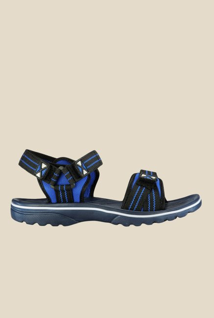 Yepme Black & Blue Floater Sandals