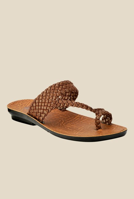 Yepme Brown Toe Ring Sandals