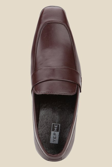 Yepme Brown Formal Loafers