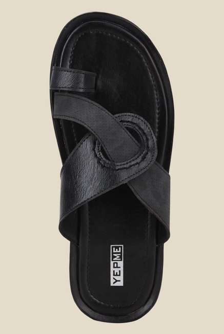 Yepme Black Toe Ring Sandals