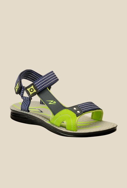 Yepme Navy & Green Floater Sandals
