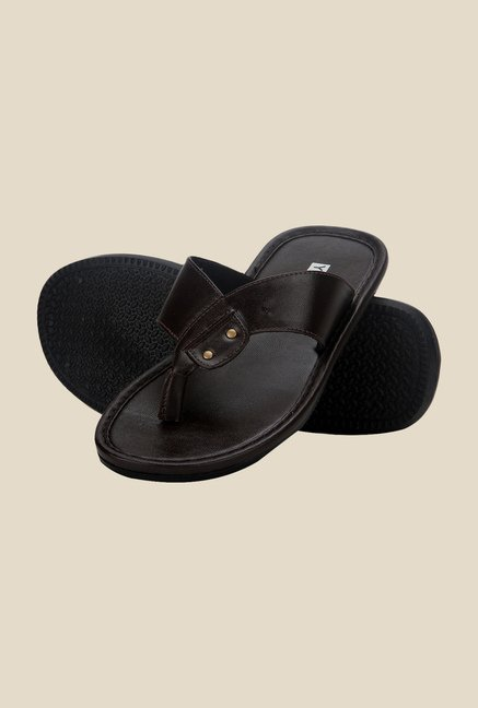 Yepme Dark Brown Thong Sandals