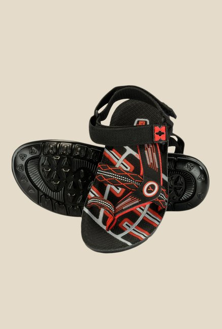 Yepme Black & Red Floater Sandals