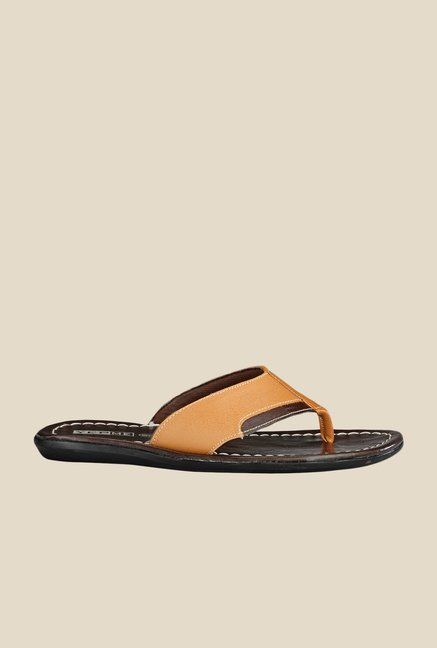 Yepme Tan & Brown Thong Sandals