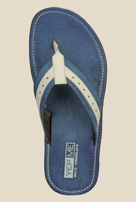 Yepme Navy & Beige Thong Sandals