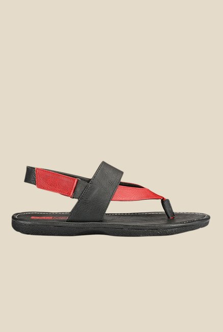 Yepme Black & Red Back Strap Sandals