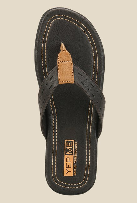 Yepme Brown & Tan Thong Sandals