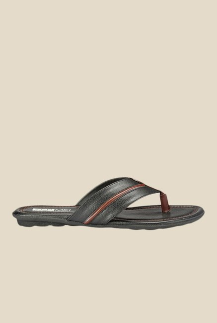 Yepme Black & Brown Thong Sandals