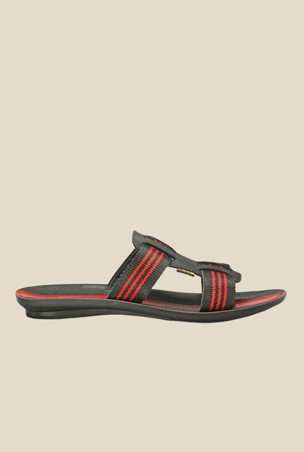 Yepme Black & Red Casual Sandals
