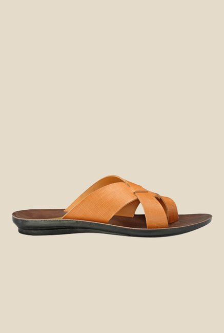 Yepme Tan Cross Strap Sandals