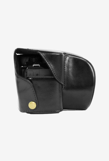 MegaGear Leather Camera Case for Panasonic DMC-FZ200 (Black)