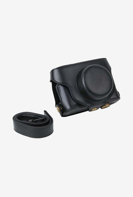 MegaGear Leather Camera Case for Fujifilm X30 Camera (Black)