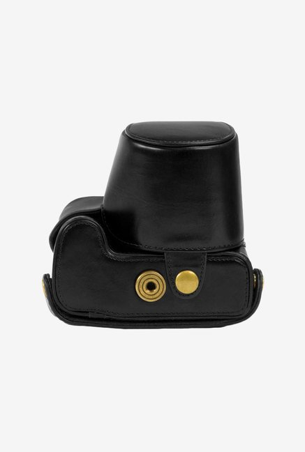 MegaGear Leather Camera Case for Nikon Coolpix (Black)